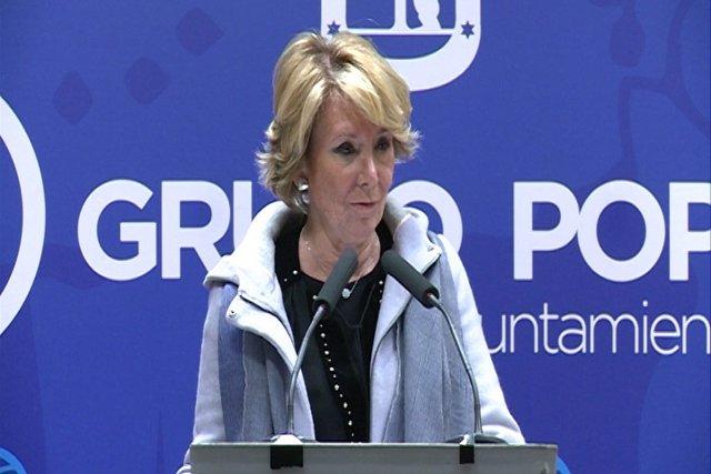 Aguirre cree que el PSOE entrará en el Gobierno municipal