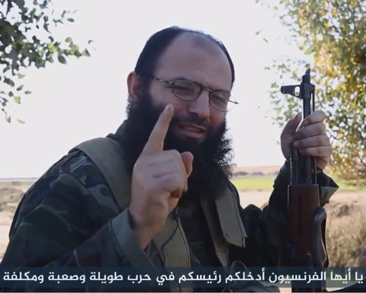 Vídeo de un yihadista francés de DAESH