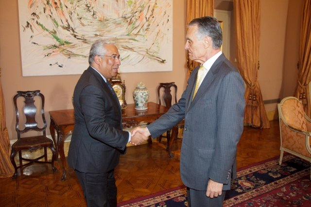 Cavaco Silva recibe al socialista Antonio Costa