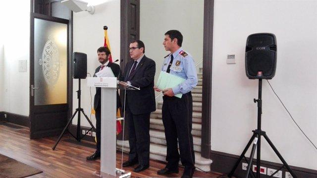 Jordi Jané, Albert Batlle y Josep Lluis Trapero