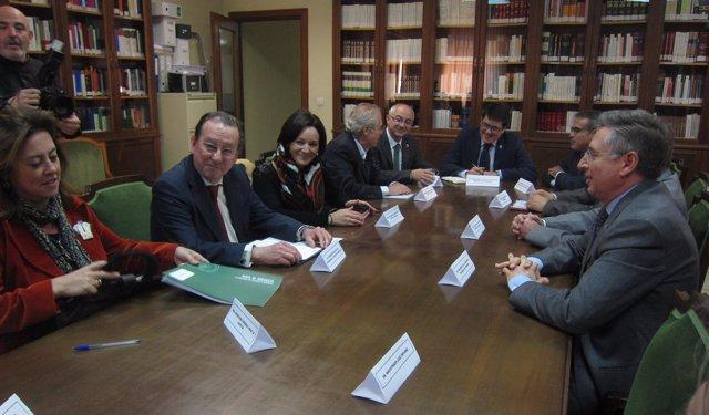 El consejero de Justicia en la reunión