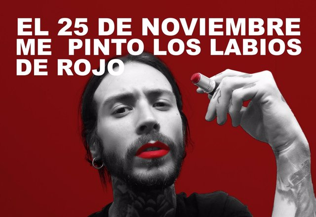 Lanzan la campaña 'Pintarse los labios de rojo' contra violencia de género