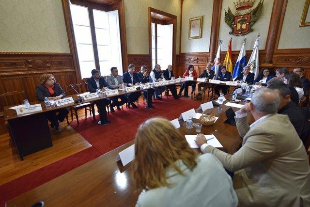 Reunión con los alcaldes del Norte