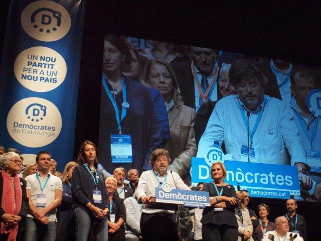 Toni Castellà en el I Congreso de Demòcrates (Archivo)