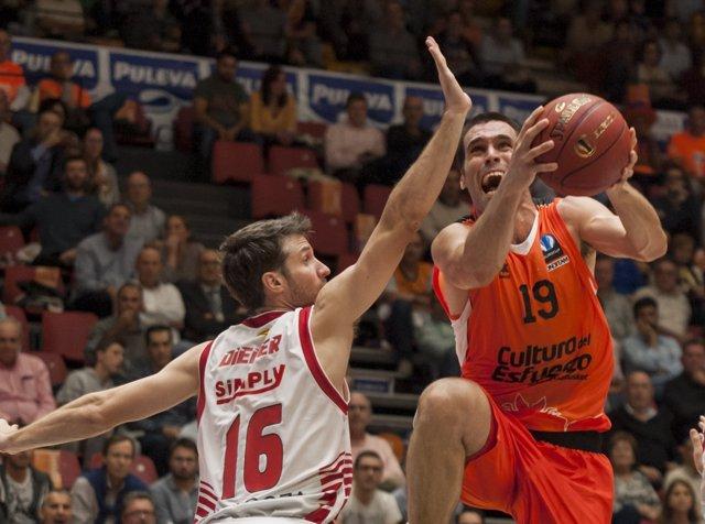 Fotos Valencia Basket  - CAI Zaragoza, Fernando San Emeterio