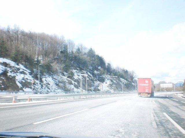Nieve en carretera