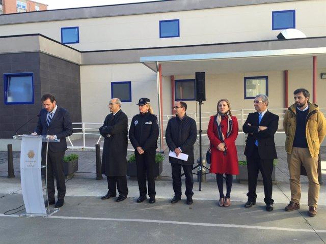 Representantes municipales y de Michelin en el Aula de Seguridad Vial