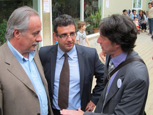 Joan Carretero, Ignasi Planas (Reagrupament) Y Jordi Portabella (ERC)