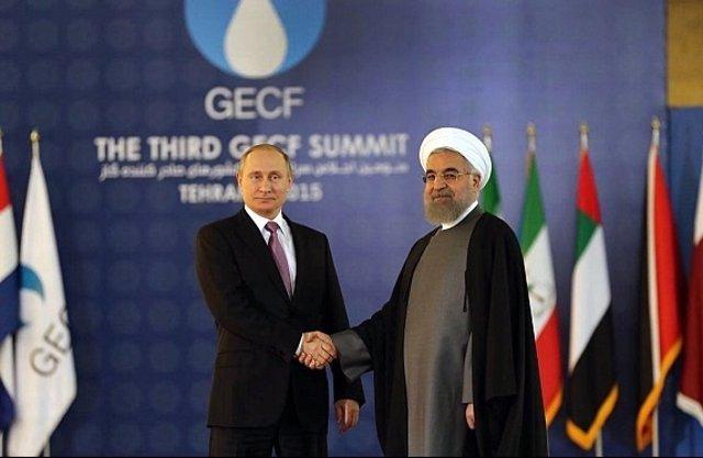 Putin y Rohani se reúnen durante una cumbre de gas en Teherán