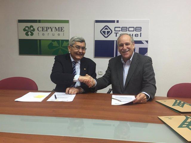 Caja Rural de Teruel y CEOE Teruel renuevan su colaboración