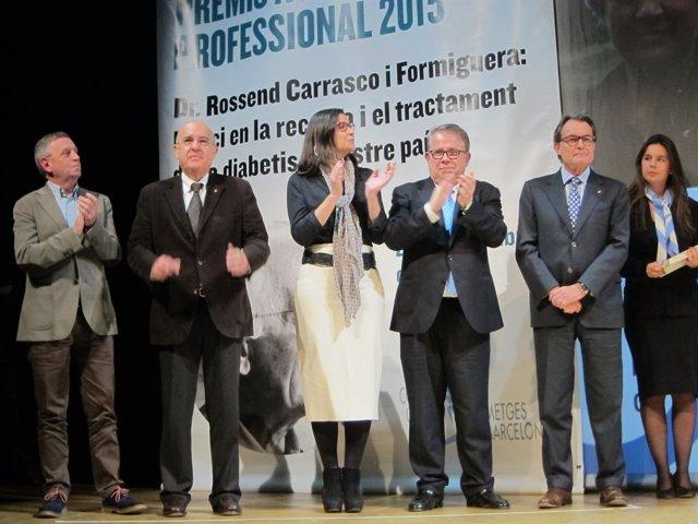 El pte. Artur Mas en la entrega de los Premis Excel·lència