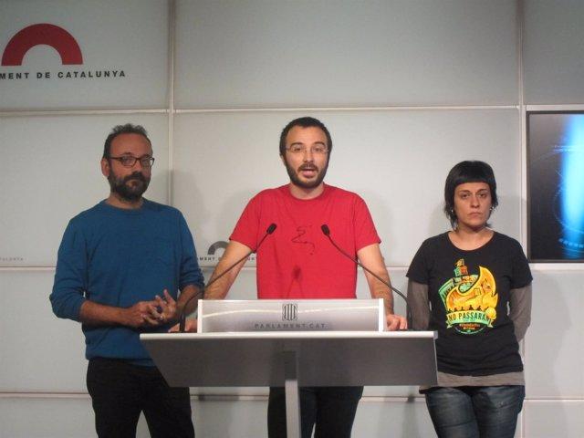 Benet Salellas, Albert Botran, Anna Gabriel (CUP)