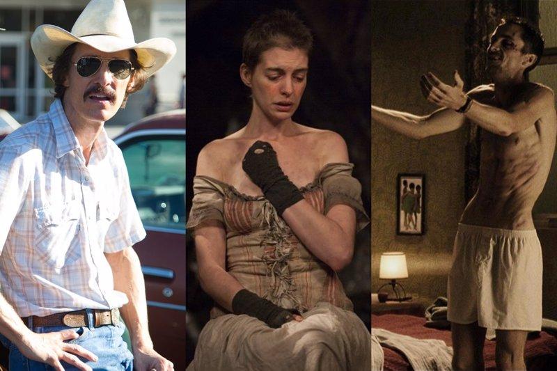 10 estrellas de Hollywood que se quedaron en los huesos para sus películas