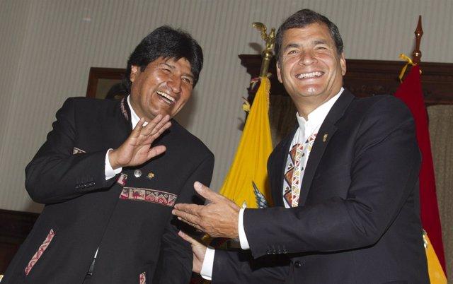 Evo Morales y Rafael Correa
