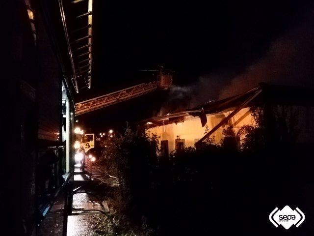 Incendio en Pravia.