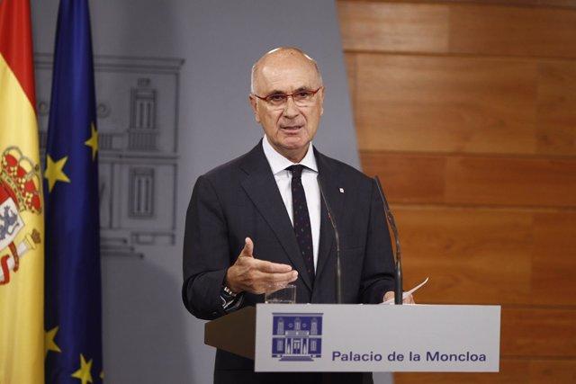Durán i Lleida en Moncloa tras reunirse con Rajoy