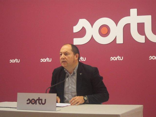 El portavoz de Sortu, Pernando Barrena