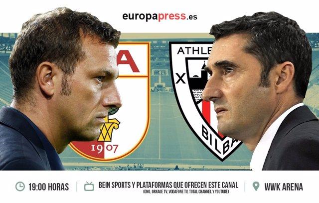 Horario y dónde ver el Augsburg fc - Athletic de Bilbao Europa League