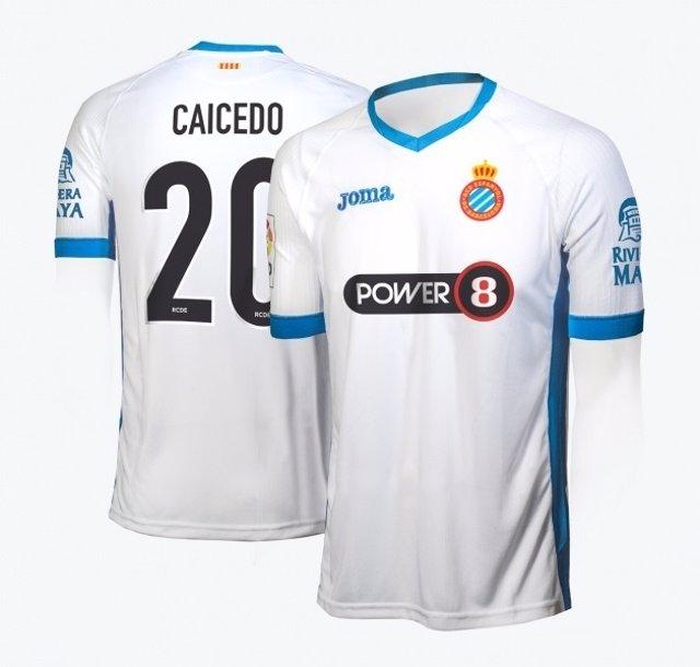 Tercera equipación del RCD Espanol 2015-16