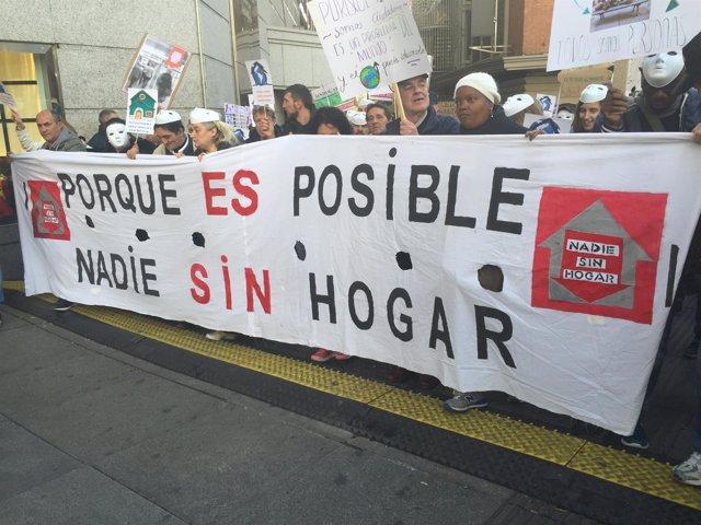 MANIFESTACIÓN PERSONAS SIN HOGAR