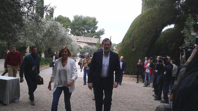 Mariano Rajoy y María Dolores de Cospedal en el acto 'cumPPlimos: De la crisis a