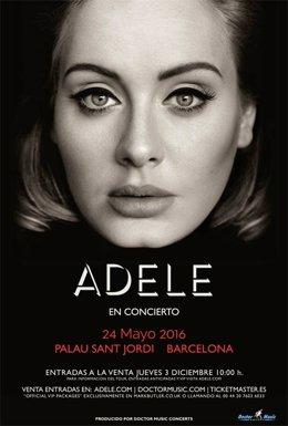 Cartel del concierto de Adele en Barcelona
