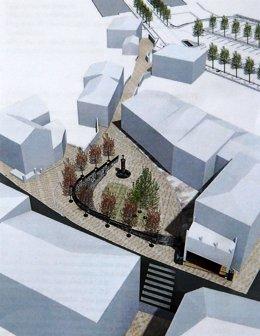 Proyecto de la plaza en Puente Viesgo