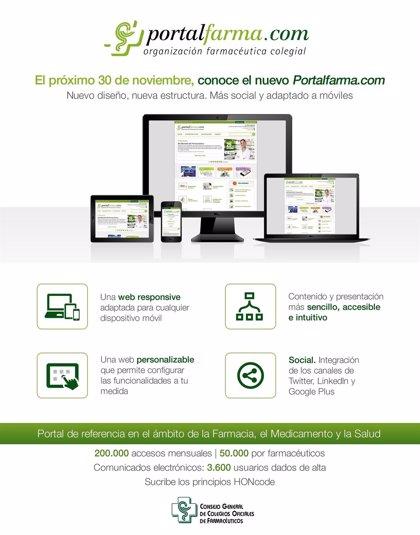La web de la Organización Farmacéutica Colegial cambia su diseño para convertirse en un portal más accesible