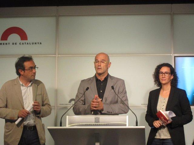 Josep Rull, Raül Romeva, Marta Rovira (JxSí)