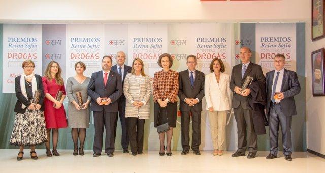 Ganadores de los XXIII Premios Reina Sofía contra las Drogas, de CREFAT