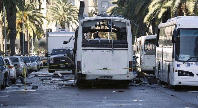 Autobús atacáu en Túnez.