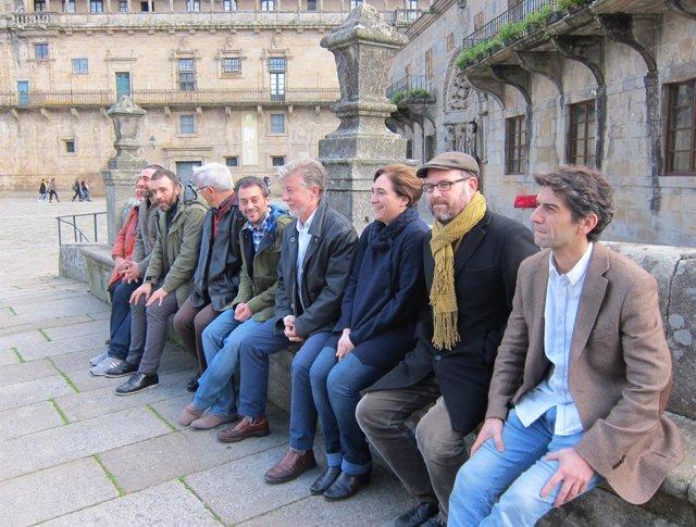 Alcaldes de 'Ciudades por el bien común' en Santiago de Compostela