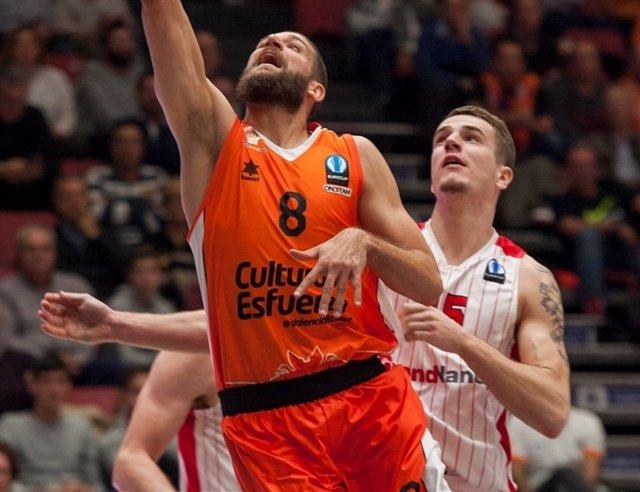 Valencia Basket vs. SLUC Nancy, Antoine Diot.