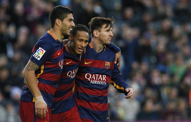 Luis Suárez Neymar Leo Messi Barcelona Real Sociedad