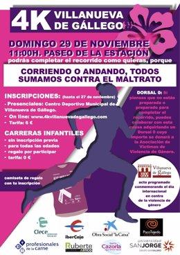Carrera contra la violencia de género.