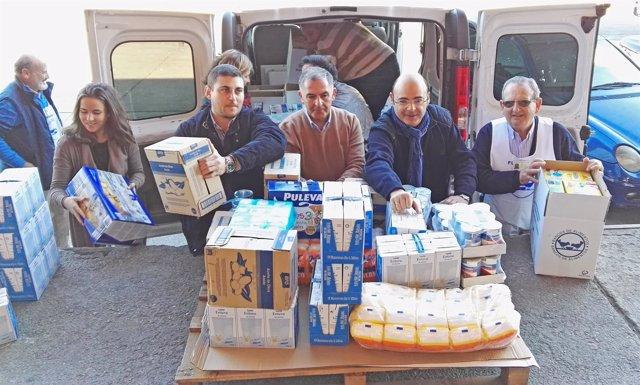 Donación del PP al Banco de Alimentos de Granada
