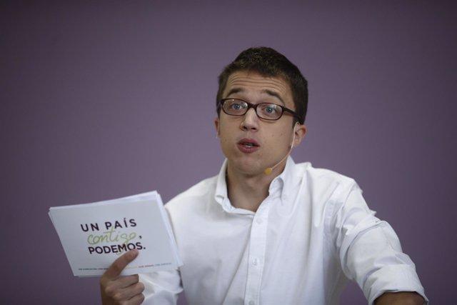 Iñigo Errejón presenta los elementos centrales de la campaña de Podemos