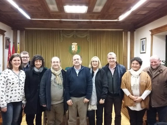 Miquel Iceta junto a Mònica Lafuente y Paco Boya