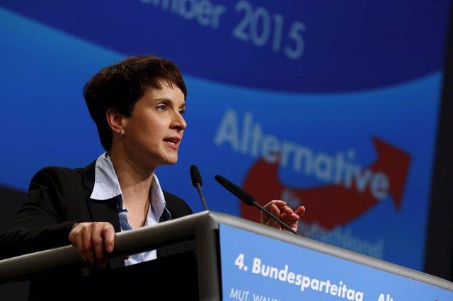 Frauke Petry,  líder del partido Alternativa por Alemania (AfD)
