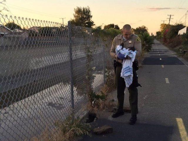 Niña rescatada en Los Ángeles