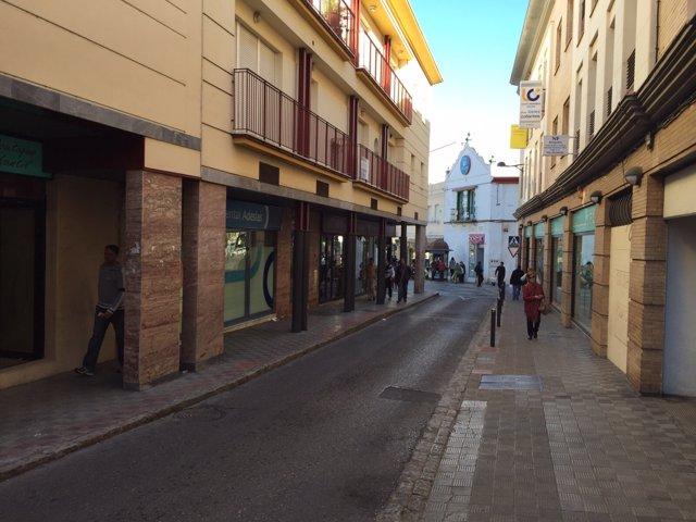 Calle San Francisco, en Dos Hermanas.
