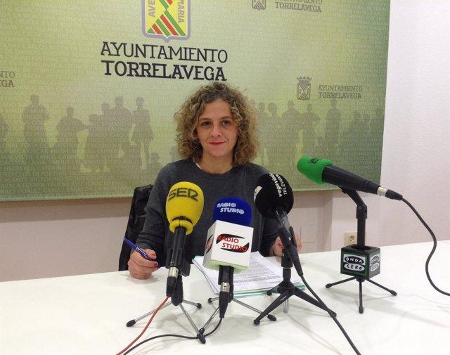 Patricia Portilla en rueda de prensa