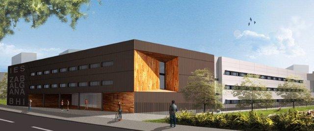 Proyecto del nuevo instituto secunsdaria zabalgana (vitoria- Alava)