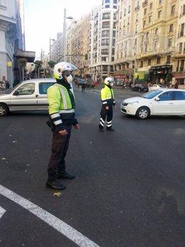 Agentes de movilidad en contaminación