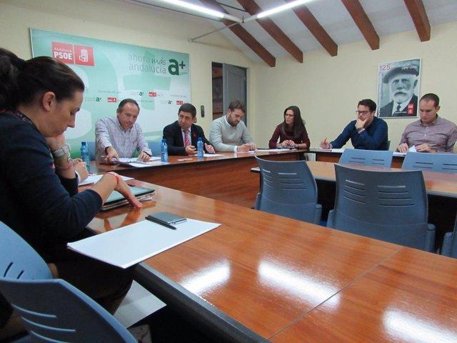 Reunión de la comisión de juventud del PSOE y JJSS de Jaén.