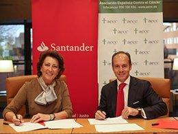 Acuerdo AECC y Banco Santander