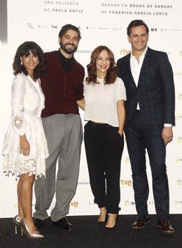 Inma Cuesta, Álex González, Paula Ortiz y Asier Etxeandia en Novia