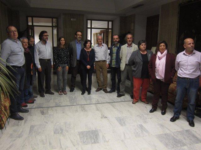 Integrantes de la comisión de seguimiento del pacto de gobierno