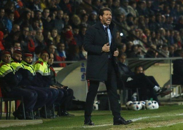 Simeone en el Reus-Atlético