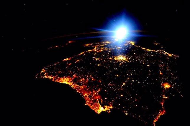 España y Portugal desde el espacio